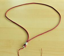 Handmade classical Red necklace with Tibetan Silver for Pendant 27""
