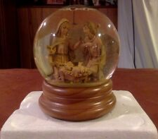 "FONTANINI Holy Family Nativity Glitterdome Musical Snow Globe ""Silent Night"""
