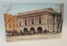 Antique 1900`s Central Fire Station Postcard, Kalamazoo, Mich.