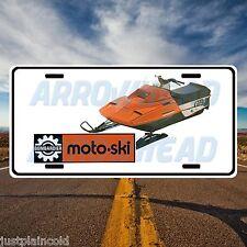 Moto-Ski Vintage snowmobile and logo style license plate