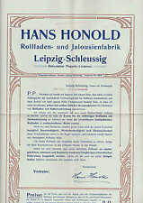 Leipzig-plagwitz, folleto 1910, Hans Honold enrrollable-persianas-fábrica