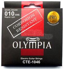 Olympia CTE-1046 Electric Guitar Strings Corrosion Resistant - Gauge 10 Regular