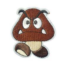Mario Character Goombas Mushroom Super Mario Iron On Patch Sew on Transfer Badge