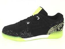 REEBOK Workout Plus NC Shoes Black/Neon w Print Sneakers Mens US 10.5 EU 44 New