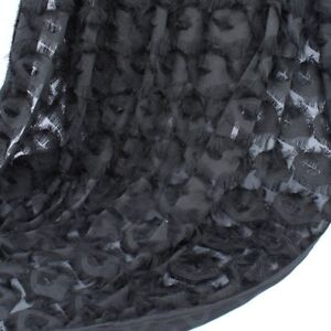 3D Eyes Feature Tassel Fringe Chiffon Fabric Making Designer 150cm Wide BY YARD