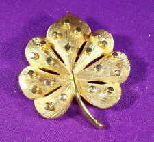 VINTAGE GOLDTONE BROOCH PIN LEAF DESIGN FLORENTINE