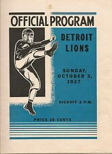 1937 Green Bay Packers-Lions Program Pack Overpowers Detroit NICE!!