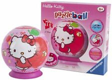 HELLO KITTY SWEET TO THE CORE 3D PUZZLEBALL 72 PIECE RAVENSBURGER JIGSAW