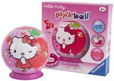 Hello Kitty Sweet hasta el núcleo 3d Puzzleball 72 Piezas Ravensburger Rompecabezas