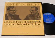 BENTLEY ON BRECHT:LP-SONGS POEMS OF BERTOLD BRECHT EX