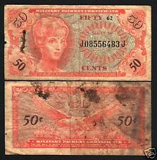 USA UNITED STATES 50 CENTS PM60 1965 MPC SER.641 EAGLE MILITARY CURRENCY NOTE