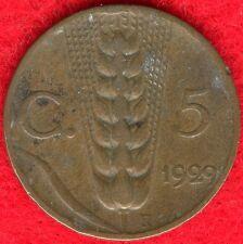 ITALY - 5 CENTESIMI - 1929 R