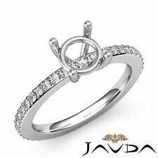 Diamond Engagement women's Half Eternity Ring Platinum 0.35Ct Round Semi Mount