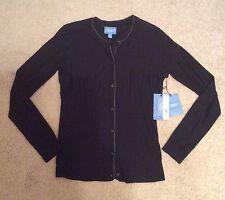NWT $50 Simply Vera Wang Black Button Front Cardigan M