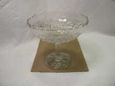 Antique Banner Open Compote Early American Pattern Glass John Higbee Jelly Clear