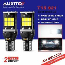2x AUXITO T15 W16W 921 LED Back up Reverse Parker Light Globe White Error Free