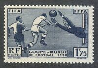 France 1938 MNH Mi 427 Sc 349 World Cup Soccer Championship, France **