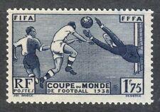 France 1938 MNH Mi 427 Sc 349 World Cup Soccer Championship, France **