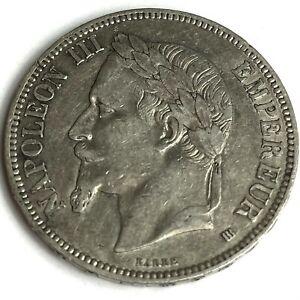 1867 France 5 Francs Napoleon III REF:E407
