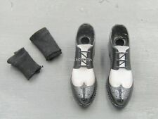 1/6 Scale Toy Spade J - Black & White Wing Tip Shoes (Peg Type)