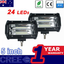 2x5inch CREE LED WORK LIGHT BAR OFFROAD FOG Driving 12V 24V jeep truck tail lamp