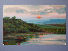 R&L Postcard: Scotland Loch Ness, Solitary Fisherman in Boat Fishing