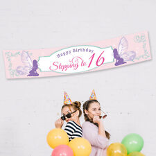 PERSONALISED Happy Birthday Fairy Party Banner Fabric Decorations Christening