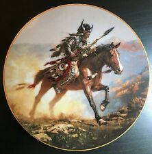 Spirit of The Plains by Chuck Ren from the Mystic Warriors plate Collection