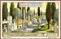 Athens Greece Burial Sepulchre Tombs 1920s Trade Ad Card