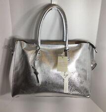 Women's Giorgia Milani Silver Leather Hand Bag