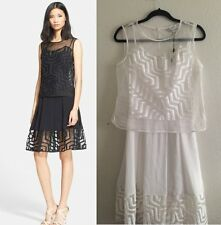 NWT Milly 'Aztec' Fil Coupe Popover Dress White size 4
