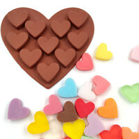 Love Heart Silicone Ice Cube Chocolate Candy Soap Cake Decorating Tray Molds