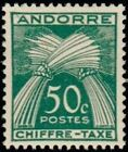 "ANDORRE FRANCAIS STAMP TIMBRE TAXE N° 23 "" CHIFFRE-TAXE 50c. "" NEUF xx TTB"