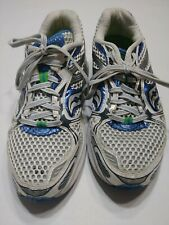 WOMEN'S SAUCONY PROGRID GUIDE 5 WHT/SIL/BLU RUNNING Athletic SHOES SIZE 9M