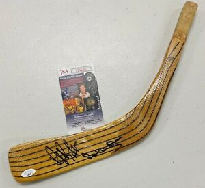 Bobby Orr Ray Bourque Dual Signed Hockey Stick Blade Autographed AUTO /w JSA COA