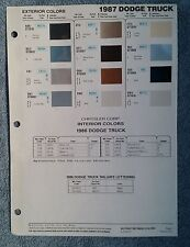 Ditzler Paint Chip Charts - 1987 dodge truck