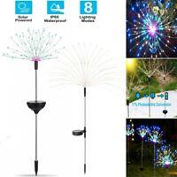 150 90 LED Solar Powered Firework Starburst Stake Fairy Light Garden Outdoor New