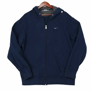 Nike Men's Blue Full Zip Hoodie Sweatshirt - Size XL
