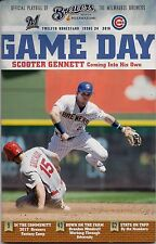 SCOOTER GENNETT COVER MILWAUKEE BREWERS 2016 OFFICIAL GAMEDAY PROGRAM ISSUE #24