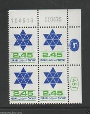 ISRAEL 2.45 STANDBY Plate Block Stamp Definitive Date 11.04.76 / 104518 SY.11