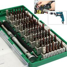 60 in 1 S2 Tool Steel Precision Screwdriver Nutdriver Bit Repair Tools Kit Sets