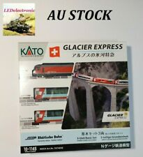 Kato N gauge 10-1145 Glacier Express, Basic 3 Car Set, model train