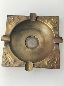 Bolivar Coin ASHTRAY Brass VINTAGE 1963