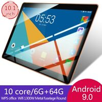 10.1 pollici 6GB+64GB Tablet PC bluetooth Android 9.0 10 Core WIFI 2 SIM WIFI