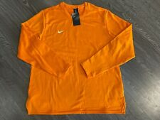 Nike Men's Football Therma Modern Long Sleeve Crew Sweater Orange 908358-873 NEW