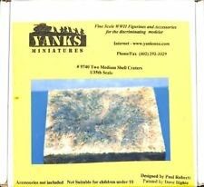 Yanks Miniatures 1:35 Two Medium Shell Craters Foam Diorama Base #9740