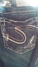 Silver Jeans  Aiko Fit 25x33  Mid-Rise Slim Hip & Thigh Boot Cut Dark Wash NWT