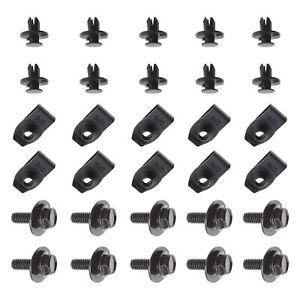 30Pcs Undertray Clip Retainer Kit  For Nissan Qashqai Bolt Nut Clamp & Fastener