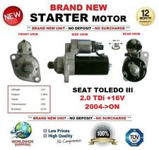 Seat toledo starter motors ebay for seat toledo iii 20 tdi 16v 2004 on starter motor 20kw 10 publicscrutiny Image collections