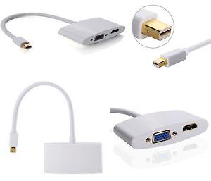 mini Displayport a HDMI VGA Cable adaptador  Mac Book Pro Aire, Microsoft